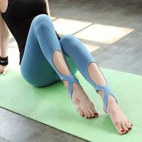 高腰显瘦健身裤女高弹力紧身运动跑步透气瑜伽裤速干踩脚舞蹈裤夏