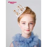 小孩生日演出发箍宝宝发饰儿童皇冠头饰公主女童王冠金色