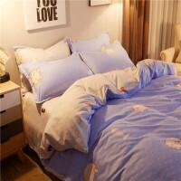 芳庭秋冬季磨毛加厚床上用品单人学生宿舍三件套床单被子罩被套四件套