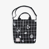JOYSAYS设计品牌 格子小斗牛 原创文艺可爱单肩包 帆布包 斜跨包