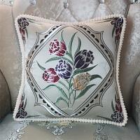 皮沙发靠垫抱枕套不含芯客厅欧式正方形靠枕床头北欧家用靠背