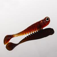 夜光夜钓假鱼饵可挂串钩用小鱼1克5cm路亚软饵钓翘嘴鲈鱼鳜鱼白条