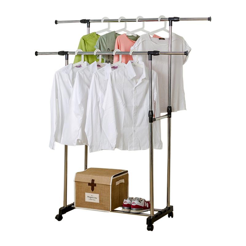 室内折叠凉挂衣架简易升降晒衣架阳台伸缩双杆式晾衣架落地不锈钢 黑色 双杆 一般在付款后3-90天左右发货,具体发货时间请以与客服协商的时间为准