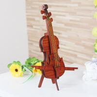 20180924112732521?小提琴客厅中式摆件模型 欧式家居创意装饰品小礼物 乐器表演道具