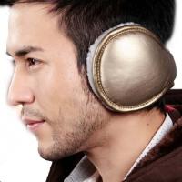 男冬季折叠毛绒皮质厚耳罩 保暖耳套 保暖护耳包 耳捂耳暖