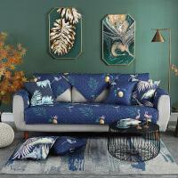 北欧布艺全棉沙发垫冬现代简约沙发靠背巾防滑全包沙发套四季通用