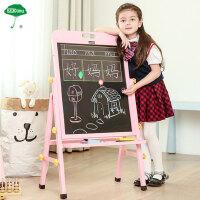 儿童实木画板画架小黑板支架式家用可升降白板画画双面磁性写字板