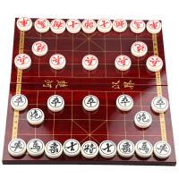 中国象棋套装 大号加重型亚克力象棋 便携木盒折叠棋盘礼品
