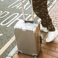 同款复古铝框行李箱旅行箱拉杆箱子皮箱包万向轮韩版男女28寸