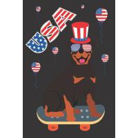 【预订】USA: Rottweiler Dog Skateboarding Notebook Journal To W