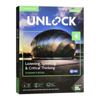剑桥初中英语教材原版进口 Unlock listening speaking & Critical Thinking 4