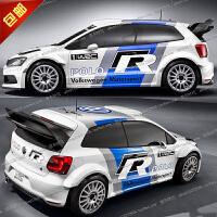 20180825133746132大众新POLO车身拉花高尔夫7GTI改装全车贴golf6骐达WRC R赛车贴纸