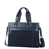 新款男包手提包时尚男士尼龙布横款单肩斜挎公文包771-1