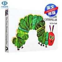 英文原版绘本 好饥饿的毛毛虫 The Very Hungry Caterpillar 纸板翻翻洞洞书 廖彩杏书单艾瑞卡尔