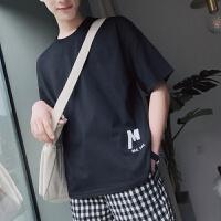夏季新款情侣短袖T恤男韩版潮流宽松百搭半袖印花体恤衫学生上衣