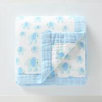 盖毯空调被儿童婴儿夏季竹纤维宝宝纯棉夏凉被包巾新生儿抱被纱布