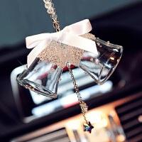 水晶铃铛汽车挂饰水晶球挂绳风铃挂件大雪花水晶链车载挂绳链子 水晶