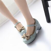 韩版女童皮鞋小女孩高跟鞋公主鞋女童鞋舞蹈鞋跳舞表演鞋大童单鞋SN3366 31 脚长20.5cm