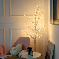 ins圣诞节创意白桦树灯装饰品店面橱窗店铺活动场景布置氛围摆件