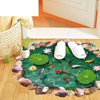 艾欧唯 房间创意装饰地面地板贴纸耐磨卫生间地贴防水贴画仿真3d立体墙贴 大