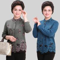 中老年人女装春秋装开衫外套妈妈装60-70岁针织衫T恤80奶奶装毛衣