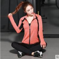 透气速干衣瑜伽服三件套长袖套装女 新款时尚外套文胸跑步裤健身房运动服