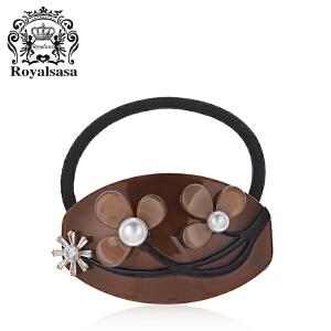 皇家莎莎头绳发圈日韩版时尚花朵头饰发饰扎头发绳皮筋扎马尾饰品