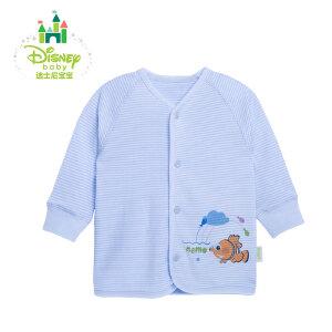 【3件4折】迪士尼Disney 婴儿服装纯棉内衣春衣条纹前开扣上衣153S684