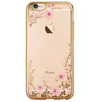 金缔斯 iPhone6plus手机壳全包防摔新款6splus奢华硬壳超薄时尚i6钻壳个性苹果6s透明