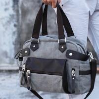 帆布包斜挎包潮包手提包男单肩包斜跨包旅行包时尚包包百搭休闲包