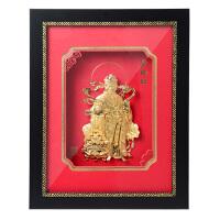 装饰摆件立体金箔画财神爷财神到 送长辈朋友新年春节礼物室内挂