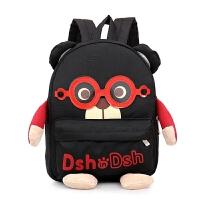 宝宝书包-3-5岁幼儿园男童可爱韩版大班旅游背包男双肩包潮6 黑色小号 1-3岁
