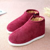 №【2019新款】送老人的传统中老年手工老棉鞋女棉布鞋老北京老人布棉鞋
