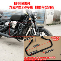 龙嘉V途250-V LJ250-2H摩托车改装配件 保险杠靠背尾箱边箱包灯罩