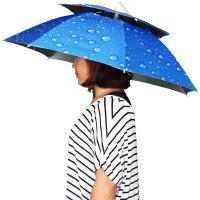 钓鱼伞帽 男女双单层伞大号夏季遮阳垂钓帽 双层伞口直径67厘米