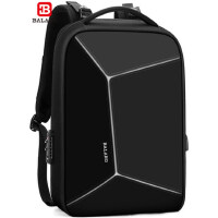 巴朗新款休闲电脑包防盗背包商务双肩包大容量拼接炫酷大学生书包