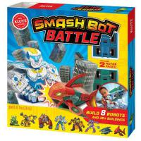 Smash Bot Battle 儿童手工书:折纸机器人 英文原版 亲子互动书籍
