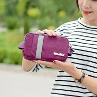 夏季简约女士手包帆布小钱包休闲手拿手机包拉链布艺零钱包大容量