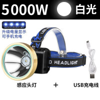 LED头灯强光感应矿灯充电远射3000超亮头戴式手电筒米捕鱼夜钓灯