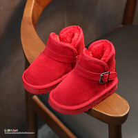 儿童雪地靴冬季新款保暖女童靴子短靴中筒靴宝宝鞋男童棉鞋潮