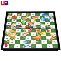 大号蛇棋桌游折叠式磁性蛇棋幼儿儿童亲子玩具 便携版益智蛇梯棋