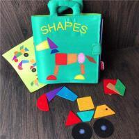 宝宝认识形状颜色七巧板拼图形状配对布书蒙特梭利儿童早教撕不烂益智玩具