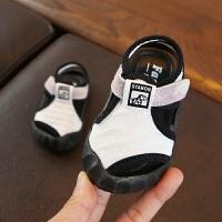夏季新款儿童沙滩鞋 纯色软底婴儿学步鞋0-1岁软底宝宝运动凉鞋
