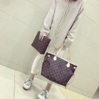 欧美时尚包包潮款手袋女包大容量单肩女士大包时尚女士手提包 深棕色 默认1
