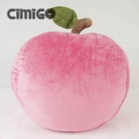西米果你是我的小苹果 卡通抱枕靠垫 苹果毛绒玩具 水果 女生礼物 如图色