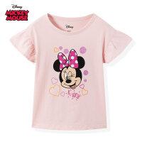 【99元3件】迪士尼米奇米妮系列童装女童夏装2020春夏新品短袖印花T恤