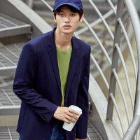 【2件1.5折价:89.9】MECITY男装秋季新款基本款休闲西装外套男
