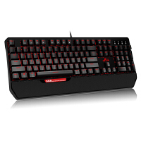 【包邮+支持礼品卡支付】Rii K66机械键盘 黑色红轴红色背光 绝地求生吃鸡cf游戏键盘 家用办公有线笔记本