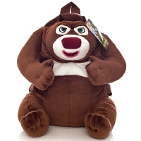 毛绒玩具儿童书包熊大熊二可爱公仔男女宝宝幼儿园双肩书包