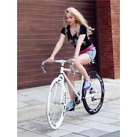 自行车24/26寸男女学生单车活飞公路赛车倒刹实心充气胎